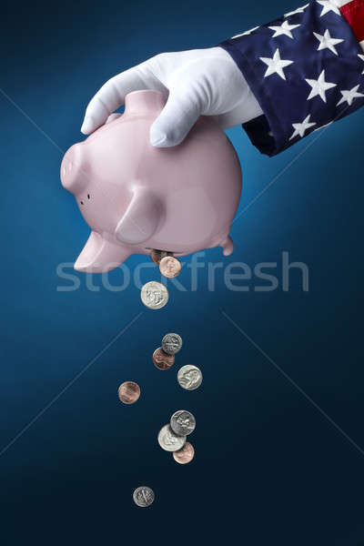 Uncle Sam emptying Piggy Bank Stock photo © 350jb