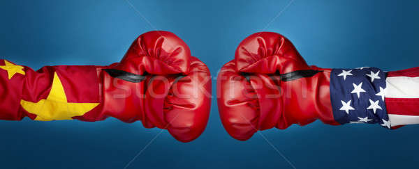 China vs EUA boxeo cumplir Foto stock © 350jb