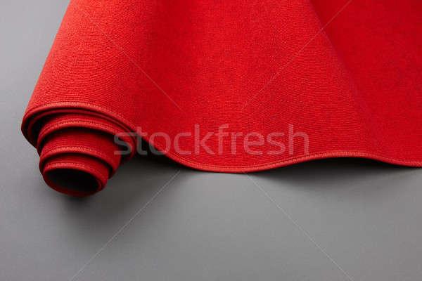 Felfelé vörös szőnyeg közelkép lövés tekert űr Stock fotó © 350jb