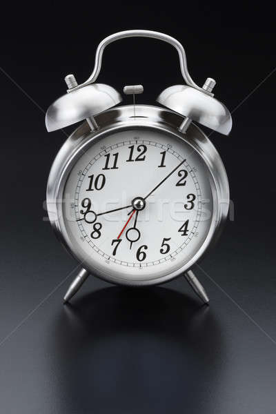 Classic silver alarm clock Stock photo © 350jb