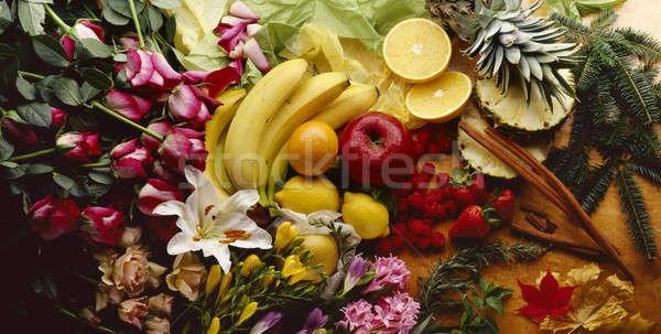 красочный тропические цветы фрукты плодов Сток-фото © 350jb
