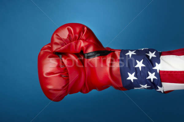 Uncle Sam with boxing gloves Stock photo © 350jb