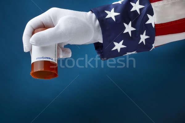 Kormány recept drog terv közelkép lövés Stock fotó © 350jb