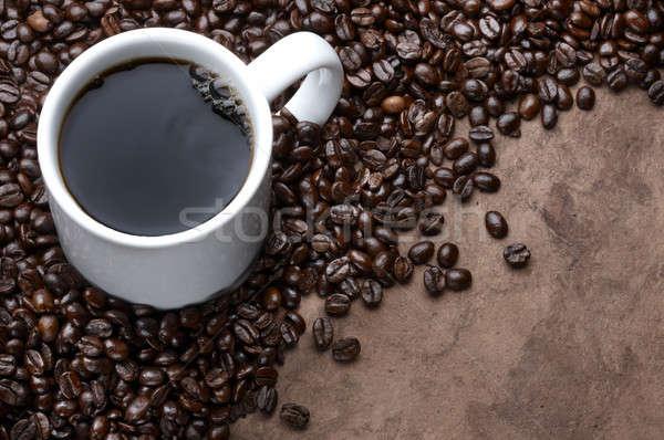 Кубок чашку кофе кофе выстрел кофе коричневый Сток-фото © 350jb