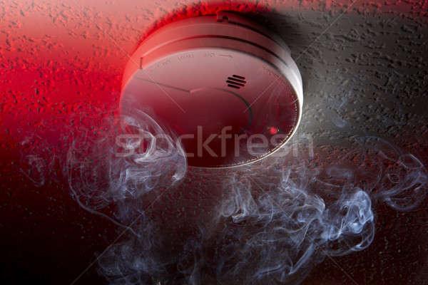 дым детектор выстрел потолок белый Сток-фото © 350jb