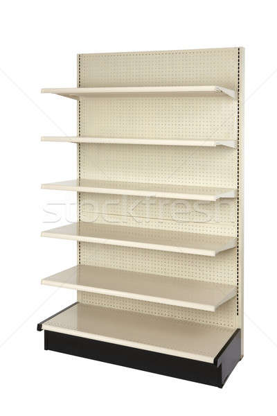 Vazio varejo armazenar prateleira ângulo tiro Foto stock © 350jb
