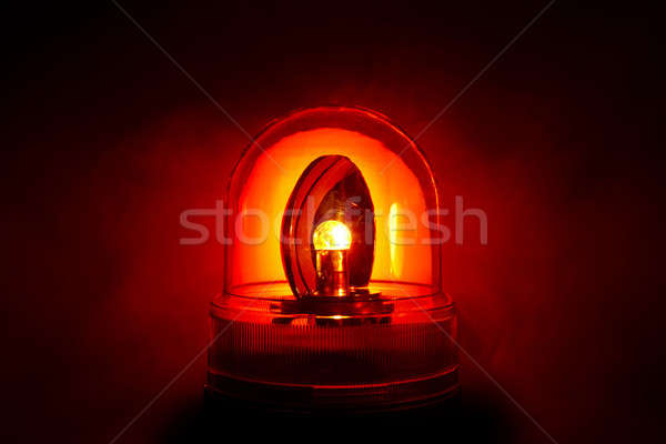 Glowing red police light Stock photo © 350jb