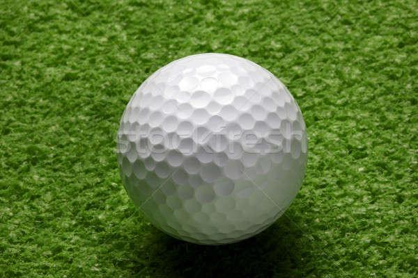 Golflabda közelkép makró lövés ül fű Stock fotó © 350jb