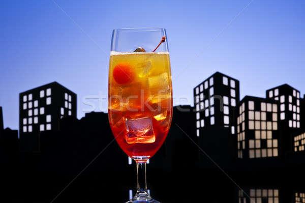 Metrópole tequila nascer do sol coquetel vidro Foto stock © 3523studio