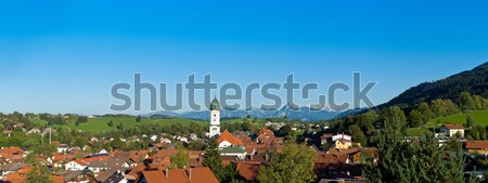 Panoramic view above the roofs of Pfronten im Allgaeu Stock photo © 3523studio