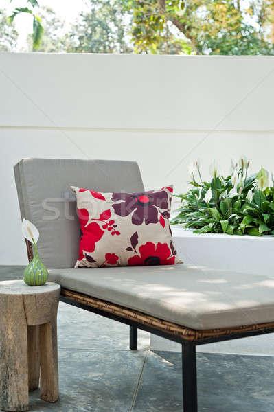Villa jardin belle après-midi soleil arbre Photo stock © 3523studio