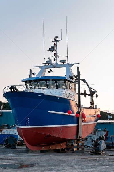 Fish trawler on land Stock photo © 3523studio