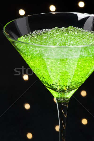 Manzana martini cóctel disco luces verano Foto stock © 3523studio