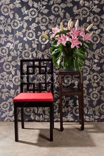 Black red Chair and side table  Stock photo © 3523studio