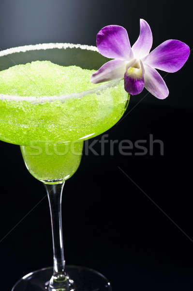 Green margarita cocktail Stock photo © 3523studio