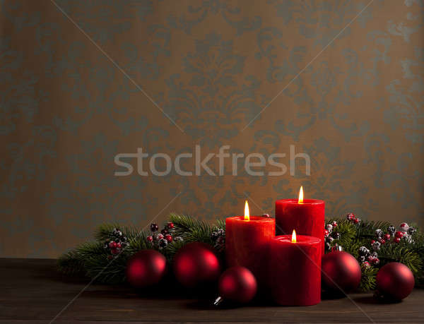 Advent Noel çelenk karanlık parti Stok fotoğraf © 3523studio