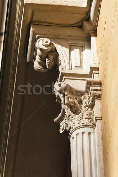 Sandstone column as exterior decoration in sun shine Stock photo © 3523studio