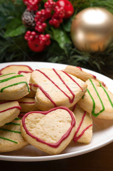 Decorated cookies in festive setting Stock photo © 3523studio