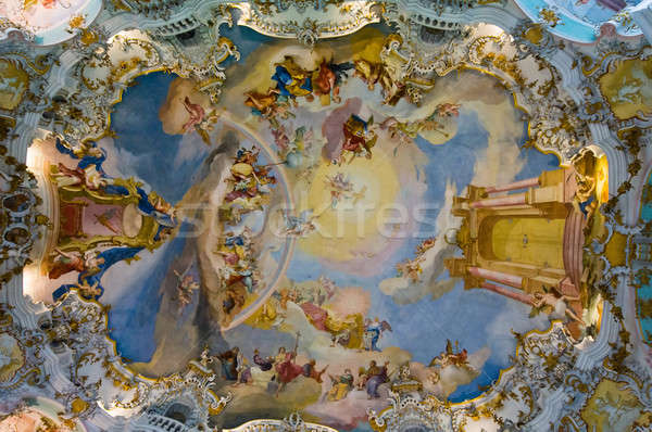 World heritage frescoes of wieskirche church in bavaria Stock photo © 3523studio