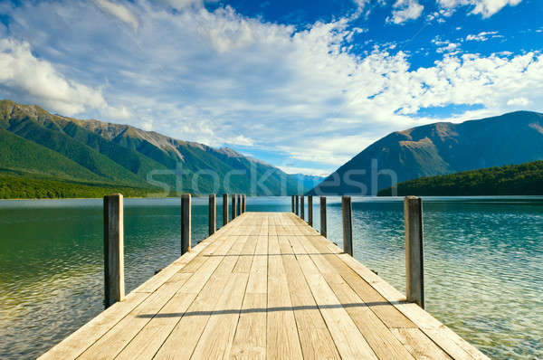 Jetty of a beautiful lake  Stock photo © 3523studio