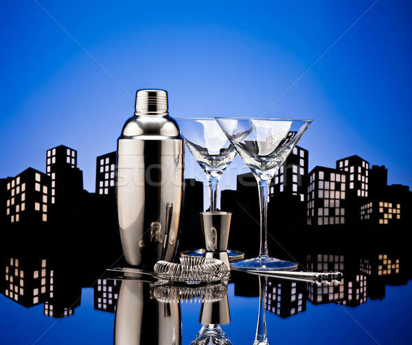 Metropolis Bartender tools Stock photo © 3523studio