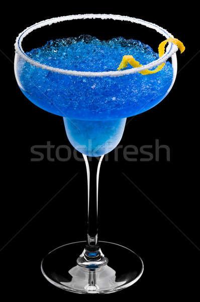 Kobalt cam buz içmek siyah alkol Stok fotoğraf © 3523studio