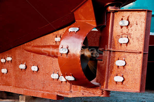 Rudder and propeller of a fish trawler Stock photo © 3523studio