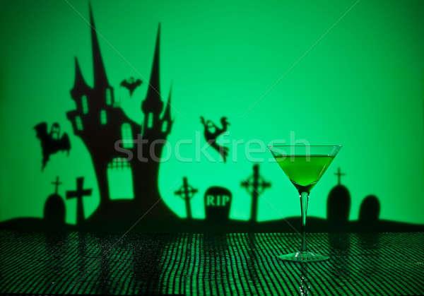 Verde martini halloween casa feliz Foto stock © 3523studio