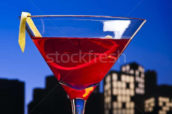 Metropol kozmopolit kokteyl kısa votka kızılcık Stok fotoğraf © 3523studio