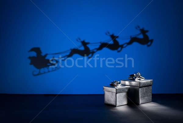 сани способом вечеринка любви рождения зима Сток-фото © 3523studio