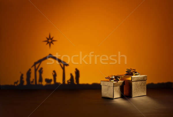 Birth Jesus with present Stock photo © 3523studio