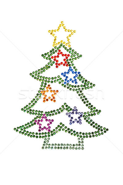 Christmas tree made of rhinestones Stock photo © 3523studio