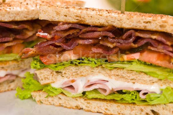 Iki sandviç güzel güzel Stok fotoğraf © 3523studio