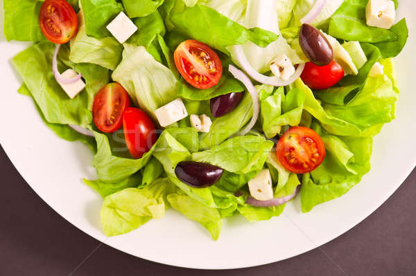 Fresh Greek salad Stock photo © 3523studio