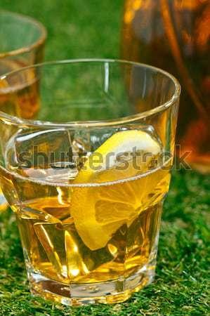 Limon buzlu çay çim yaz çim Stok fotoğraf © 3523studio