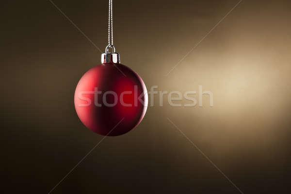 Navidad chuchería simple color lado iluminación Foto stock © 3523studio