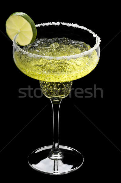 Classic Margarita in front of a black background  Stock photo © 3523studio