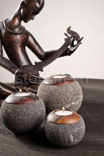 Candlesticks as interior decoration Stock photo © 3523studio