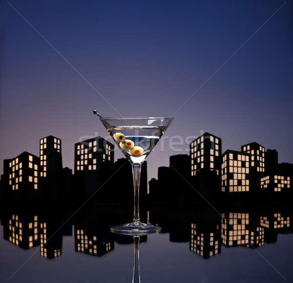 метрополия водка-мартини кенгуру коктейль водка изменение Сток-фото © 3523studio