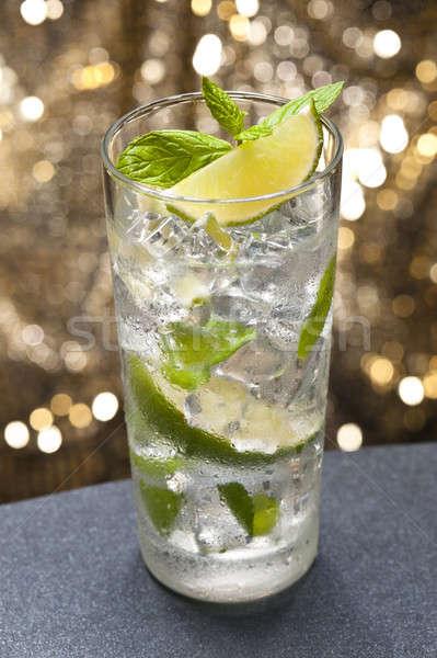Mojito cocktail mooie gekleurd blad groene Stockfoto © 3523studio
