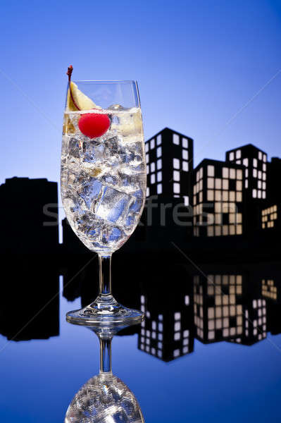 Metrópole gin coquetel restaurante beber Foto stock © 3523studio