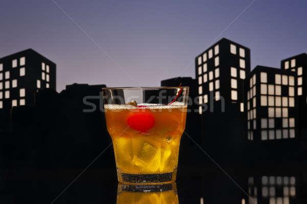 Metrópole coquetel feliz fruto gelo Foto stock © 3523studio