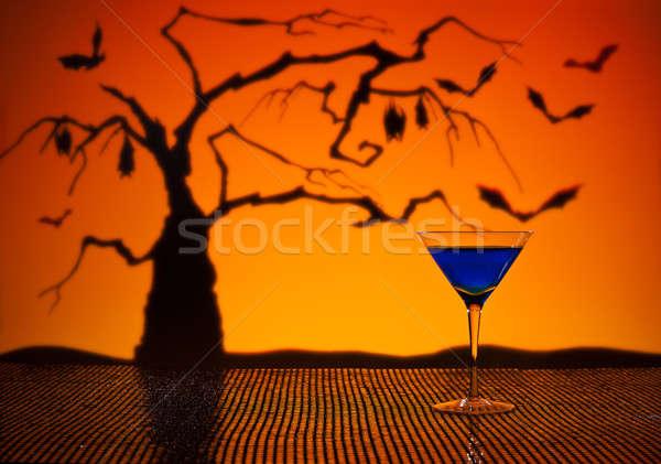 Kobalt Martini halloween mutlu ışık turuncu Stok fotoğraf © 3523studio