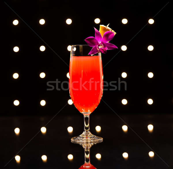Singapour cocktail hôtel très tôt lent Photo stock © 3523studio