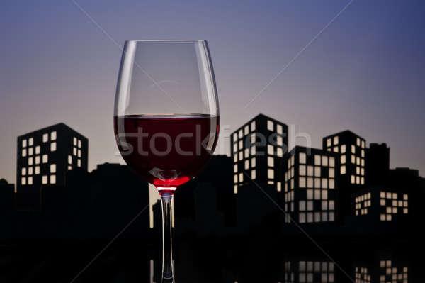 метрополия вечеринка ресторан пить Сток-фото © 3523studio