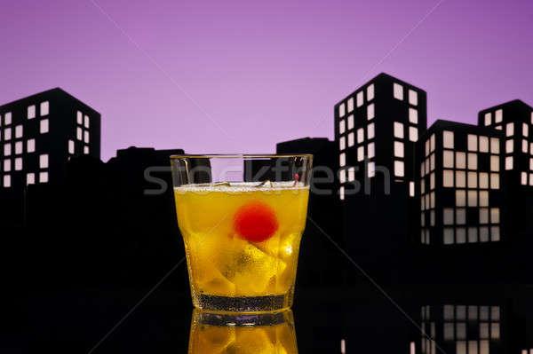 Bestuurder cocktail glas oranje drinken Stockfoto © 3523studio