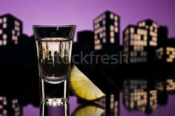 Tequila cityscape festa gelo bar beber Foto stock © 3523studio