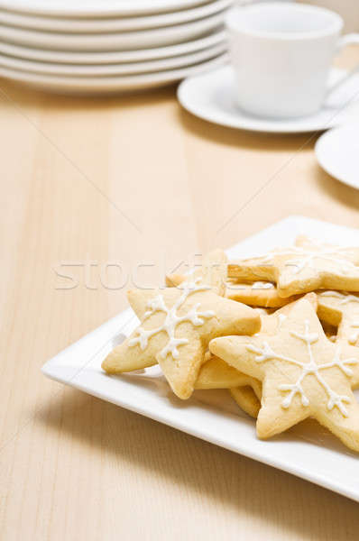 Christmas cookies on a plate Stock photo © 3523studio