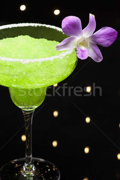 Green margarita cocktail Stock photo © 3523studio