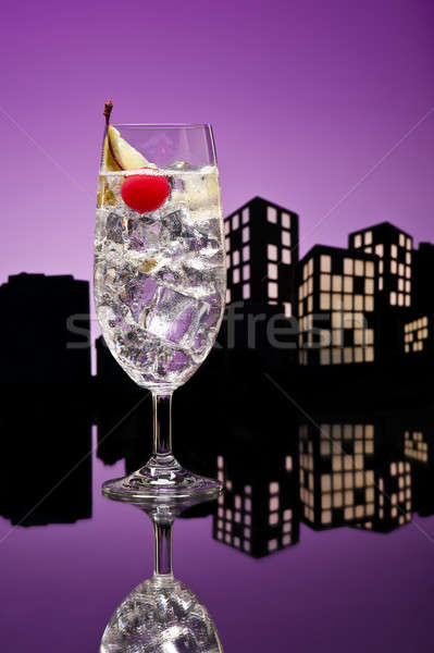 Metropolis Gin Tonic tom collins cocktail Stock photo © 3523studio